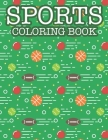 Coloring Book For Boys Cool Sports: Sports Coloring Book Cover Image