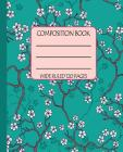 Wide Ruled Composition Book: Serene Cherry Blossoms on a Rich Teal Background Themed Notebook Will Keep Your Note Keeping Clean and Simple for Work Cover Image