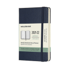 Moleskine 2021-2022 Weekly Planner, 18M, Pocket, Sapphire Blue, Hard Cover (3.5 x 5.5) Cover Image