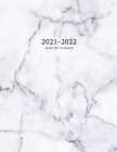 2021-2022 Monthly Planner: Large Two Year Planner with Marble Cover (Volume 5) Cover Image