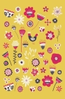 Notes: A Blank Dot Grid Notebook with Yellow Folk Flowers Cover Art Cover Image