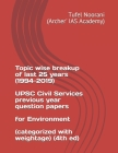 Topic wise breakup of last 25 years (1994-2019) UPSC Civil Services previous year question papers for Environment (categorized with weightage) (4th ed Cover Image