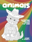 Zentangle Coloring Books for Kids - Animals - Under 10 Dollars Cover Image