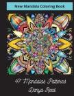 New Mandala Coloring Book Cover Image