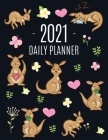 Kangaroo Daily Planner 2021: Cute Animal Calendar Scheduler for Girls - Pretty & Large Weekly Agenda with Australian Outback Animal, Pink Hearts + Cover Image
