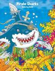 Pirate Sharks Coloring Book 1 Cover Image