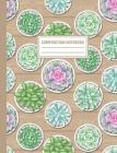 Composition Notebook: Succulent Cactus Plants In Pots Pattern Composition Book For Students College Ruled Cover Image