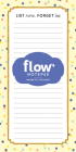 List More, Forget Less Notepad (Flow) Cover Image