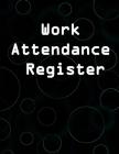 Work Attendance Register Cover Image