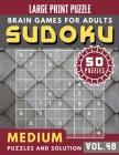 Sudoku Medium: suduko book for teens - Sudoku medium difficulty for Senior, mom, dad Large Print (Sudoku Brain Games Puzzles Book Lar Cover Image
