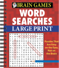 Brain Games - Word Searches - Large Print (Red) Cover Image