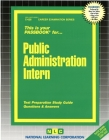 Public Administration Intern: Passbooks Study Guide (Career Examination Series) Cover Image