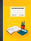 Graph Composition Notebook 1 cm: Coordinate Paper, Squared Graphing Composition Notebook, 1 cm Squares Quad Ruled Notebook Yellow Cover Cover Image
