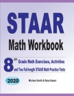 STAAR Math Workbook: 8th Grade Math Exercises, Activities, and Two Full-Length STAAR Math Practice Tests Cover Image
