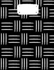 Black & White Tribal Composition Notebook: Back To School Supplies; Wide Ruled Primary Book Cover Image
