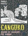 Disegni da colorare per bambini - Mandala - Animali - Canguro Cover Image