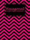 Hexagonal Graph Paper Notebook: Pink and Black Book, 1/4 inch Hexagons Graph Paper Notebooks Large Print 8.5