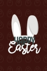 Happy Easter II Notebook, Blank Write-in Journal, Dotted Lines, Wide Ruled, Medium (A5) 6 x 9 In (Brown) Cover Image