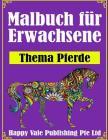 Malbuch für Erwachsene: Thema Pferde Cover Image