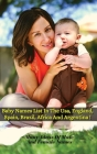 Baby Names List in the Usa, England, Spain, Brazil, Africa and Argentina: Many Ideas Of Male And Female Names From Around The World - Rigid Cover Vers Cover Image