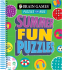 Brain Games Puzzles for Kids - Summer Fun Puzzles Cover Image
