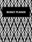 Budget Planner: Black & White Art, 12 Months Personal Budget Planner Large Print 8.5
