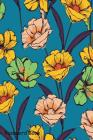 Password Book: Include Alphabetical Index With Retro Seamless Pattern Hand Drawn Sketch Blooming Flowers Cover Image