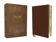 Nasb, Thinline Bible, Genuine Leather, Buffalo, Brown, Red Letter Edition, 1995 Text, Comfort Print Cover Image