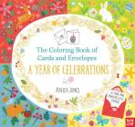 The Coloring Book of Cards and Envelopes: A Year of Celebrations Cover Image