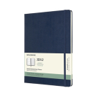 Moleskine 2021-2022 Weekly Planner, 18M, Extra Large, Sapphire Blue, Hard Cover (7.5 x 10) Cover Image