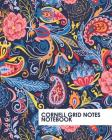 Cornell Grid Notes Notebook: Pretty Blue Paisley Grid Notebook Supports a Proven Way to Improve Study and Information Retention. Cover Image