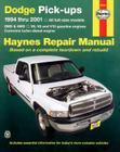 Dodge Full-Size Pickups, 1994-2001 (Haynes Repair Manual) Cover Image