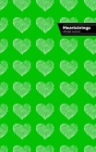 Heartstrings Lifestyle Journal, Blank Notebook, Dotted Lines, 288 Pages, Wide Ruled, 6 x 9 (A5) Hardcover (Green) Cover Image