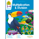 School Zone Multiplication & Division Grades 3-4 Workbook Cover Image