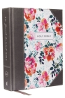 KJV, Journal the Word Bible, Cloth Over Board, Pink Floral, Red Letter Edition, Comfort Print: Reflect, Journal, or Create Art Next to Your Favorite V Cover Image