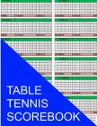 Table Tennis Scorebook Cover Image