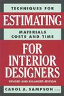 Techniques for Estimating Materials, Costs, and Time for Interior Designers Cover Image