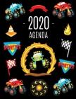 Monster Truck Agenda 2020: Diario Settimanale per Organizzare Giorni Occupati - Pianificatore Giornaliera 2020 Cover Image