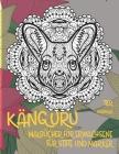 Malbücher für Erwachsene für Stifte und Marker - Mandala - Tier - Känguru Cover Image