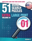 Sam's Extra Large Print Word Search Games: 51 Word Search Puzzles, Volume 1: Brain-stimulating puzzle activities for many hours of entertainment Cover Image