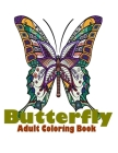 Butterfly Adult Coloring Book: Best Quality, Anti Stress, decorating Cover Image