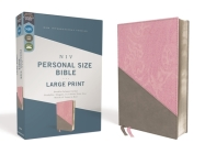 Niv, Personal Size Bible, Large Print, Leathersoft, Pink/Gray, Red Letter Edition, Comfort Print Cover Image