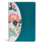 The CSB Study Bible For Women, Teal Flowers LeatherTouch Cover Image