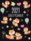 Red Fox Planner 2021: Funny Animal Planner Calendar Organizer - Artistic January - December 2021 Agenda Scheduler - Cute Large Black 12 Mont Cover Image