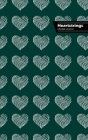 Heartstrings Lifestyle Journal, Blank Notebook, Dotted Lines, 288p, Wide Ruled, 6 x 9 (A5) Hardcover (Olive Green) Cover Image