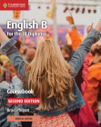 English B for the Ib Diploma Coursebook with Cambridge Elevate Edition Cover Image