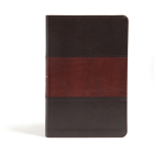 CSB Large Print Personal Size Reference Bible, Classic Mahogany LeatherTouch Cover Image