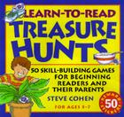 Learn-To-Read Treasure Hunts: Fifty Skill-Building Games for Beginning Readers and Their Parents [With 50 Two-Color, Die-Cut Sti Cover Image