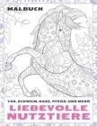 Liebevolle Nutztiere - Malbuch - Yak, Schwein, Hase, Pferd, und mehr Cover Image