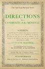 Directions for a Candidate of the Ministry Cover Image